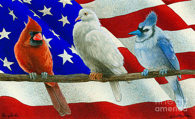 Red White And Blue Painting - The Patriots... by Will Bullas