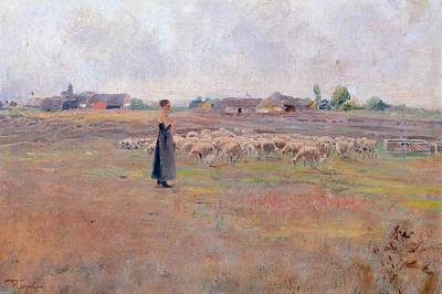 Shepherdess Painting - The Peace Of Evening by Federico Rossano