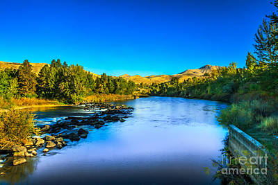 The Peaceful And Beautiful Payette River Print by Robert Bales
