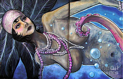 Manipulation Photograph - The Pearl Mermaid by Colleen Kammerer