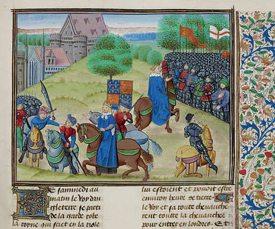 Uprising Photograph - The Peasants' Revolt In England In 1381 by British Library