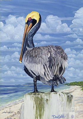 The Pelican Perch Print by Danielle  Perry
