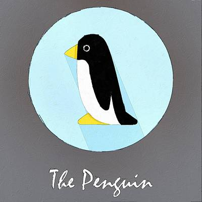 Penguin Digital Art - The Penguin Cute Portrait by Florian Rodarte