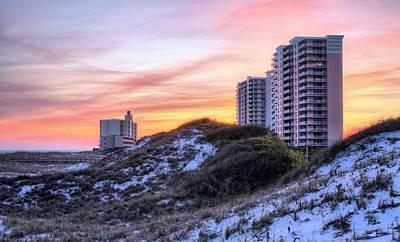The Pensacola Beach Skyline Print by JC Findley