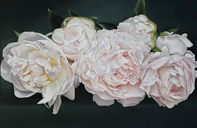 Painting - The Peonies 146 X 97 Cm by Thomas Darnell