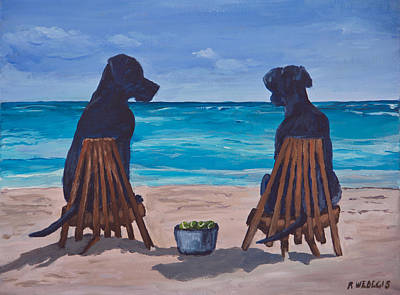 The Perfect Beach Day Original by Roger Wedegis