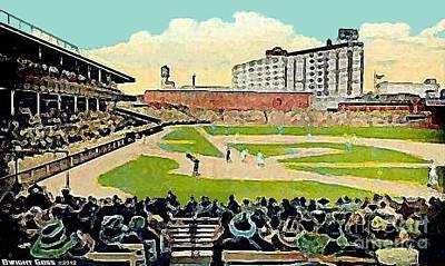 Philadelphia Phillies Stadium Painting - The Phillies Baker Bowl In Philadelphia Pa In 1914 by Dwight Goss