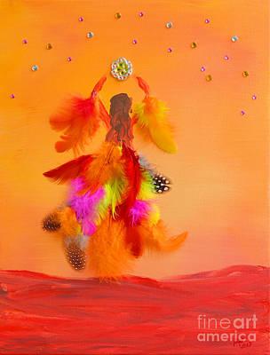 Soaring Mixed Media - The Phoenix by Alys Caviness-Gober