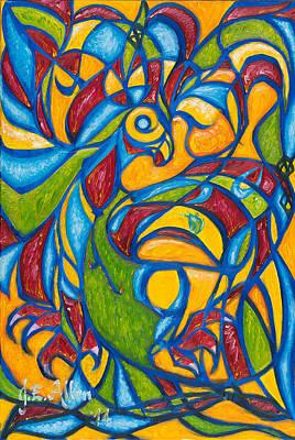 Dr. J Painting - The Phoenix by Joseph Edward Allen