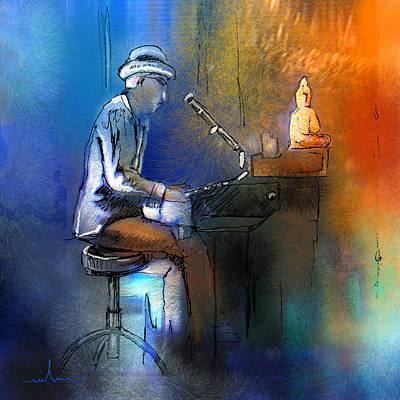 Art Miki Digital Art - The Pianist 01 by Miki De Goodaboom