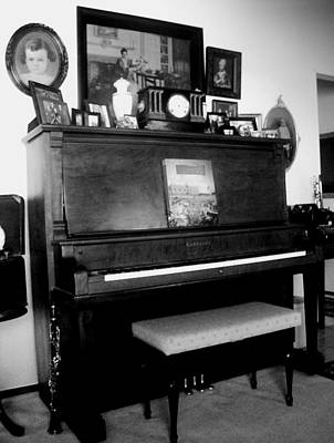 The Piano And Clarinet  Print by Peggy Leyva Conley