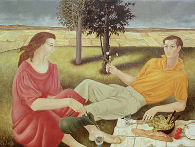 Lettuce Painting - The Picnic by Patricia O'Brien