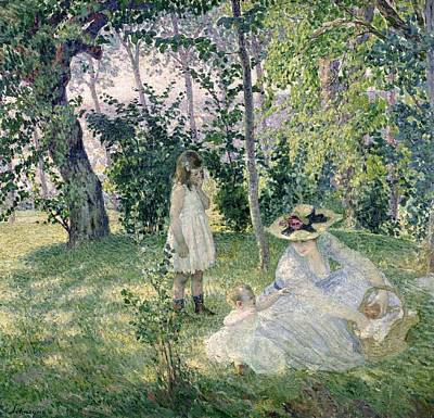 The Picnic Print by Henri Lebasque