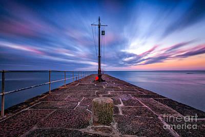 The Pier At Sun Rise Print by John Farnan