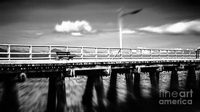 The Pier Bench Print by Perry Webster