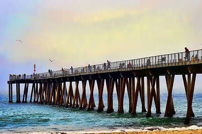 The Pier Print by Camille Lopez
