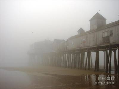 Beach Photograph - The Pier - Old Orchard Beach - Maine by Cristina Stefan