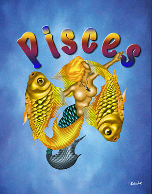 The Pisces Print by Charles Smith