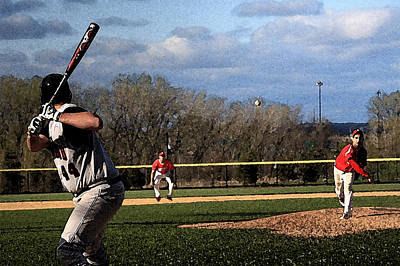 Shortstop Photograph - The Pitch With Watercolor Effect by Frank Romeo