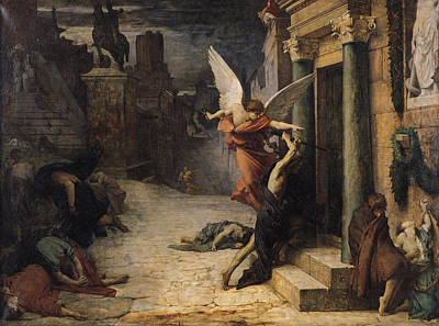 The Plague In Rome, 1869 Oil On Canvas Print by Jules Elie Delaunay
