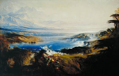 John Martin Painting - The Plains Of Heaven by John Martin