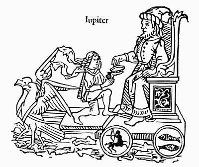 Centaur Painting - The Planet Jupiter, 1482 by Granger