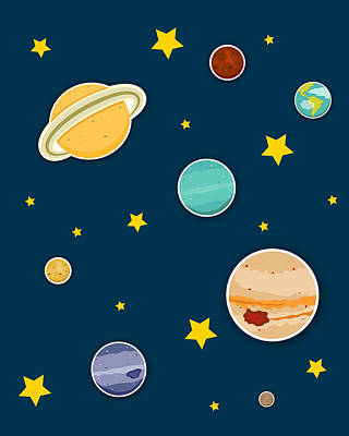The Planets  Print by Christy Beckwith