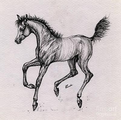 The Playful Foal Print by Angel  Tarantella