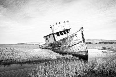 Abandoned Photograph - The Point Reyes In Black And White  by Priya Ghose