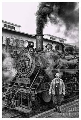 The Polar Express - Steam Locomotive V Print by Lee Dos Santos