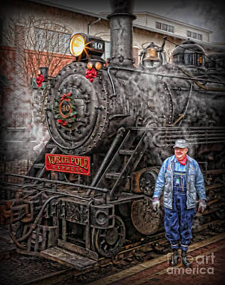 The Polar Express - Steam Locomotive Vi Print by Lee Dos Santos