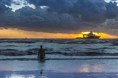 The Polar King From Crosby Beach Print by Paul Madden