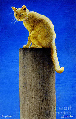Humor. Painting - The Pole Cat... by Will Bullas