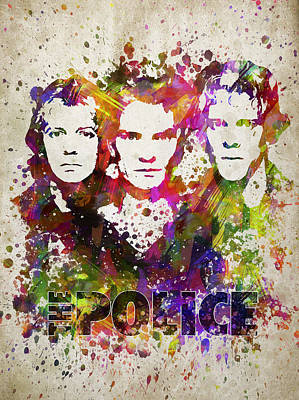 The Police In Color Print by Aged Pixel
