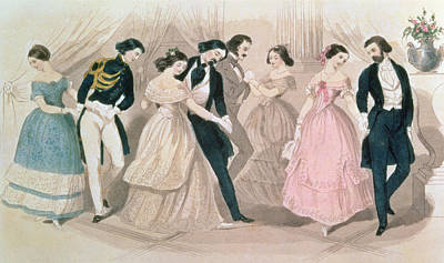 Ball Gown Painting - The Polka Fashions by English School