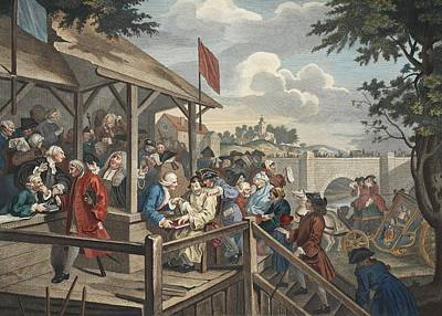 The Polling, Illustration From Hogarth Print by William Hogarth