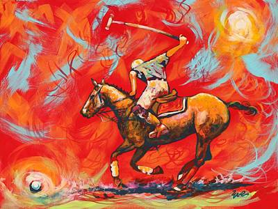 The Polo Player Original by Eve  Wheeler