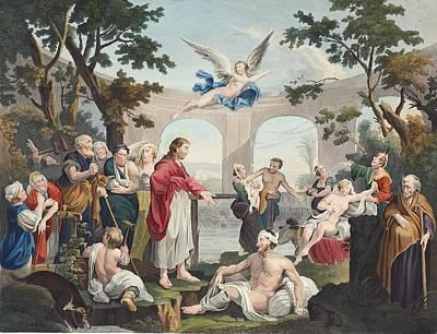 The Pool Of Bethesda, Illustration Print by William Hogarth