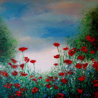 Poppy Painting - The Poppy Field by K McCoy