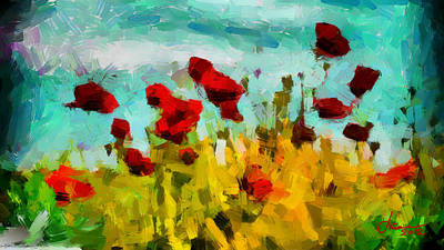 The Poppy Field Tnm Print by Vincent DiNovici