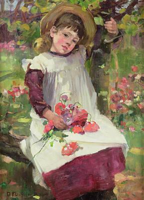 The Poppy Gatherer Print by David Fulton