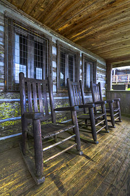 Cabin Window Photograph - The Porch by Debra and Dave Vanderlaan