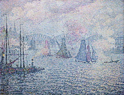 The Port Of Rotterdam, Or The Fumes Print by Paul Signac