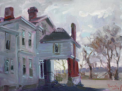 Chimney Painting - The Porter Mansion by Ylli Haruni