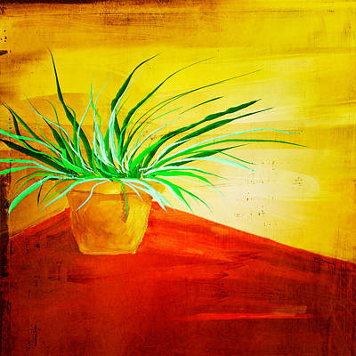 The Pot Plant Print by Brenda Bryant