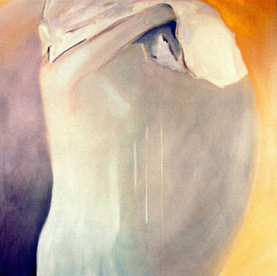 Self Discovery Painting - The Potential Of Death/birth by Jodie Marie Anne Richardson Traugott          aka jm-ART