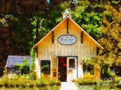 The Main Photograph - The Potting Shed Gift Shop Garden by Janine Riley