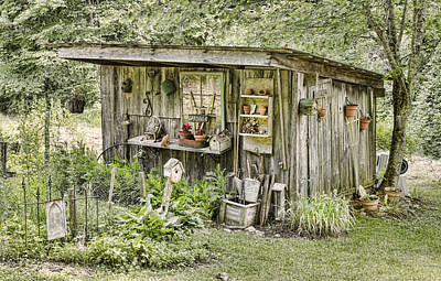 Barn Photograph - The Potting Shed by Heather Applegate