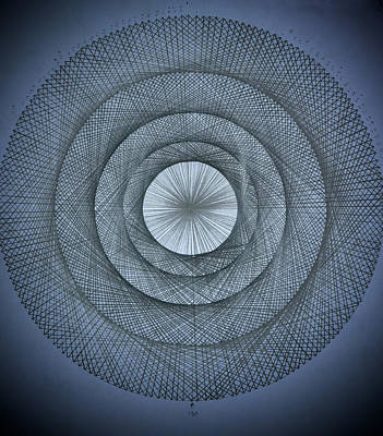 Fractal Drawing - The Power Of Pi by Jason Padgett