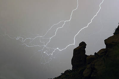 The Lightning Man Photograph - The Praying Monk Lightning Storm Chase by James BO  Insogna